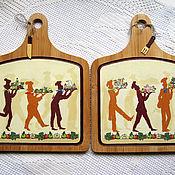 """Для дома и интерьера ручной работы. Ярмарка Мастеров - ручная работа """"Пир на весь мир"""" набор разделочных досок. Handmade."""