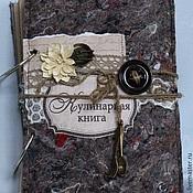 Канцелярские товары ручной работы. Ярмарка Мастеров - ручная работа кулинарная книга с фоторамками. Handmade.