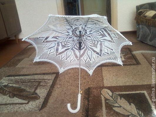 Зонты ручной работы. Ярмарка Мастеров - ручная работа. Купить свадебные и летние зонтики. Handmade. Белый, ажурный узор, крючком