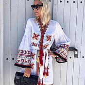 "Одежда handmade. Livemaster - original item Short dress with fringe ""Summer Breeze"". Handmade."
