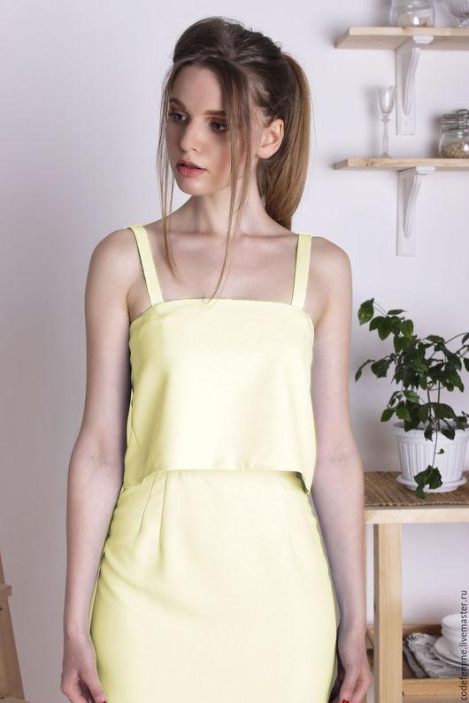 Платья ручной работы. Ярмарка Мастеров - ручная работа. Купить Платье. Handmade. Лимонный, платье по колено, спортивный стиль, сарафан