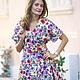 Атласное платье с запахом. Дизайнерская одежда на заказ.  Индивидуальный подход. Мастерская моды Masha Koneva.