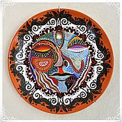 Тарелки ручной работы. Ярмарка Мастеров - ручная работа Тарелка  с росписью Ярило. Handmade.