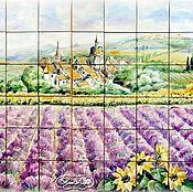 Дизайн и реклама handmade. Livemaster - original item Painted tiles. Apron for kitchen