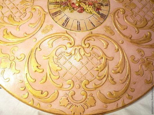 Часы для дома ручной работы. Ярмарка Мастеров - ручная работа. Купить Часы настенные Будуар в розовом. Handmade. Розовый, рококо