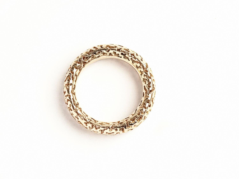 объемные кольца из золота