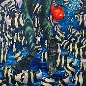 Картины и панно ручной работы. Ярмарка Мастеров - ручная работа Картина «Ой... 11:40 pm». Handmade.