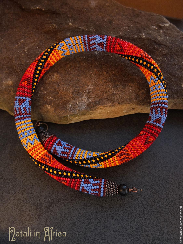 Колье в африканском стиле