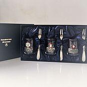 Сувениры и подарки handmade. Livemaster - original item Set MY MOTHERLAND USSR 3 stacks with enamel 3 forks in a case. Handmade.
