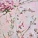 нежная легкая весенняя воздушная розовая нежно розовая картина маслом на холсте с подрамником для интерьера в стиле шебби шик, романтика, беби дол, бохо, винтаж, в гостиную, кухню, спальню, столовую,