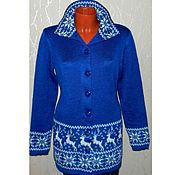 Одежда handmade. Livemaster - original item Coat knitted with reindeer and Norwegian ornament. Handmade.