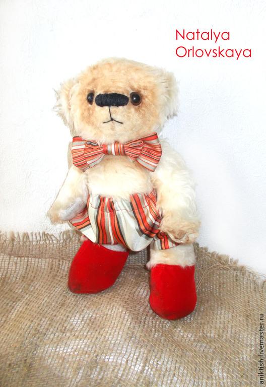 Мишки Тедди ручной работы. Ярмарка Мастеров - ручная работа. Купить Медведь Эрни. Handmade. Белый, мишка тедди, радость
