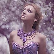 """Украшения ручной работы. Ярмарка Мастеров - ручная работа Колье """"Lilac"""". Handmade."""