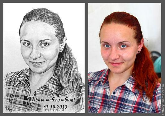 Портрет на заказ карандашом.\r\nПортрет девушки.\r\n30х40 см.\r\nМатериалы: простой карандаш, ватман.\r\nРучная работа.