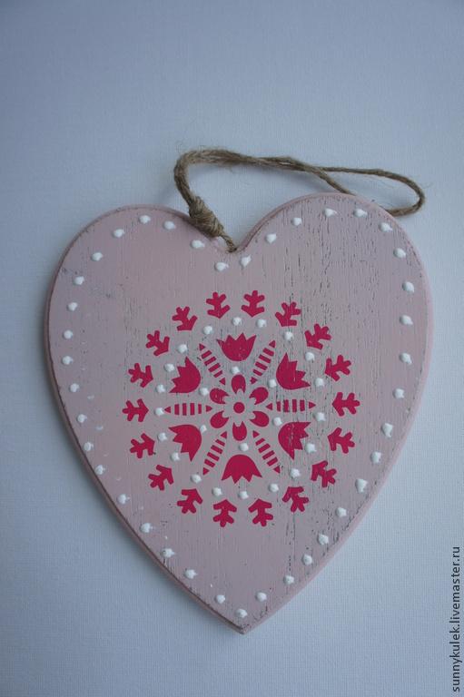 Подвески ручной работы. Ярмарка Мастеров - ручная работа. Купить Сердце деревянное. Handmade. Декор для интерьера, Декор, винтаж, подвеска