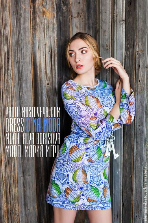 Платья ручной работы. Ярмарка Мастеров - ручная работа. Купить платье. Handmade. Абстрактный, платье на каждый день, синтетическая ткань