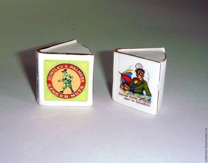 Винтажные сувениры. Ярмарка Мастеров - ручная работа. Купить Фарфоровая миниатюра наперстки-книги 2 шт.. Handmade. Комбинированный, сувенир