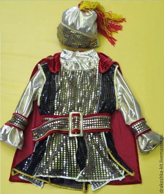 Детские карнавальные костюмы ручной работы. Ярмарка Мастеров - ручная работа. Купить Костюм золотой Рыцарь. Handmade. Ярко-красный