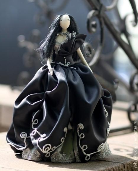 Текстильная кукла тряпиенс Готика Лена+Вика=Орпики на Ярмарке Мастеров
