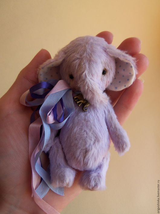Мишки Тедди ручной работы. Ярмарка Мастеров - ручная работа. Купить Слоник тедди Даниэль. Handmade. Тедди слон, лаванда