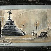 Картины и панно handmade. Livemaster - original item Painting watercolour PICCADILLY London series sketches. Handmade.