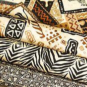 """Ткани ручной работы. Ярмарка Мастеров - ручная работа Ткани для пэчворка """"Сафари"""". Handmade."""