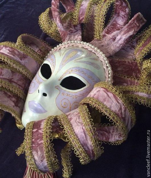 Интерьерные  маски ручной работы. Ярмарка Мастеров - ручная работа. Купить Интерьерная венецианская маска Доротея. Handmade. Бледно-розовый