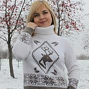 Одежда ручной работы. Ярмарка Мастеров - ручная работа Свитер с оленем. Handmade.