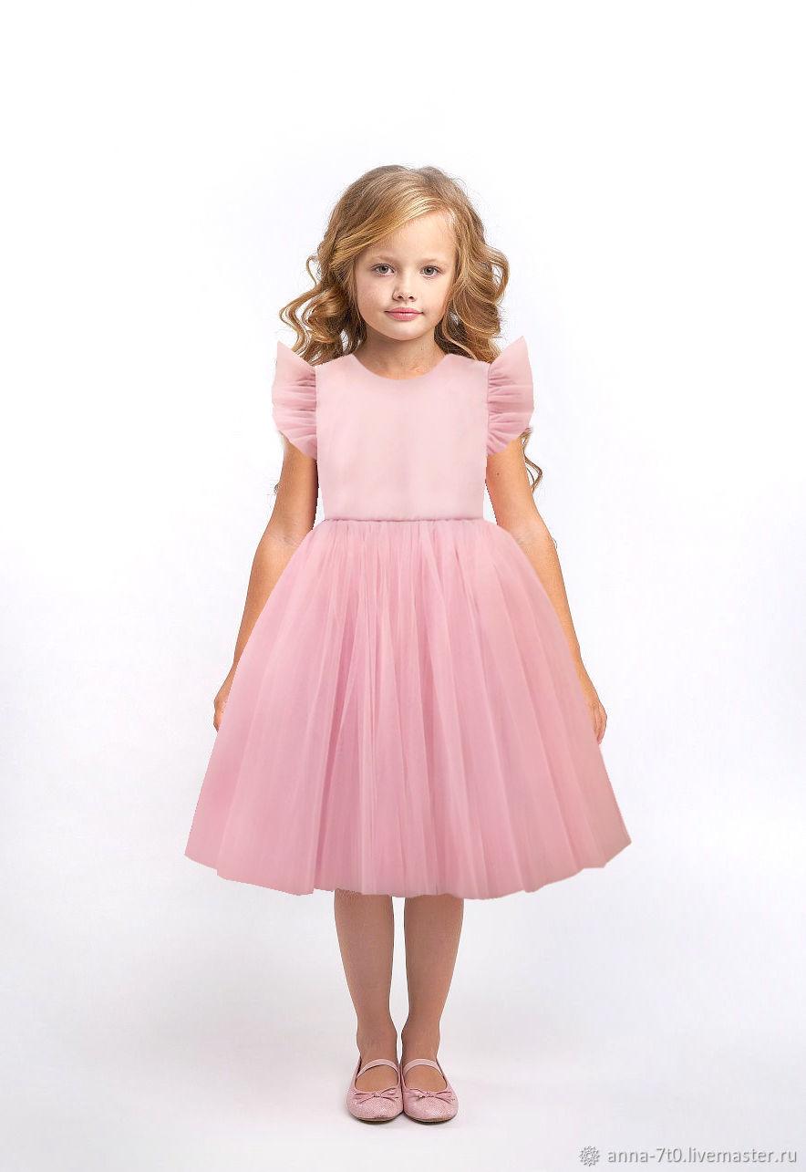 """Платье """"Розовый тюльпан"""" из хлопка и фатина, Платья, Самара,  Фото №1"""