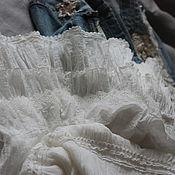 Одежда ручной работы. Ярмарка Мастеров - ручная работа Юбка с кружевом  двойная , бохо-стиль, жатка, прованс, оборки.. Handmade.