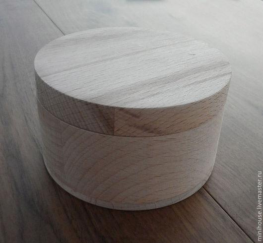 Шкатулки ручной работы. Ярмарка Мастеров - ручная работа. Купить Деревянная шкатулка из бука, цилиндрическая диаметр 95 мм. Handmade.