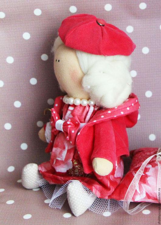 Коллекционные куклы ручной работы. Ярмарка Мастеров - ручная работа. Купить кукла малышка. Handmade. Ярко-красный, кукла-малышка