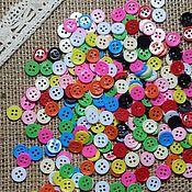 Материалы для творчества ручной работы. Ярмарка Мастеров - ручная работа Пуговки цветные 9 мм. Handmade.