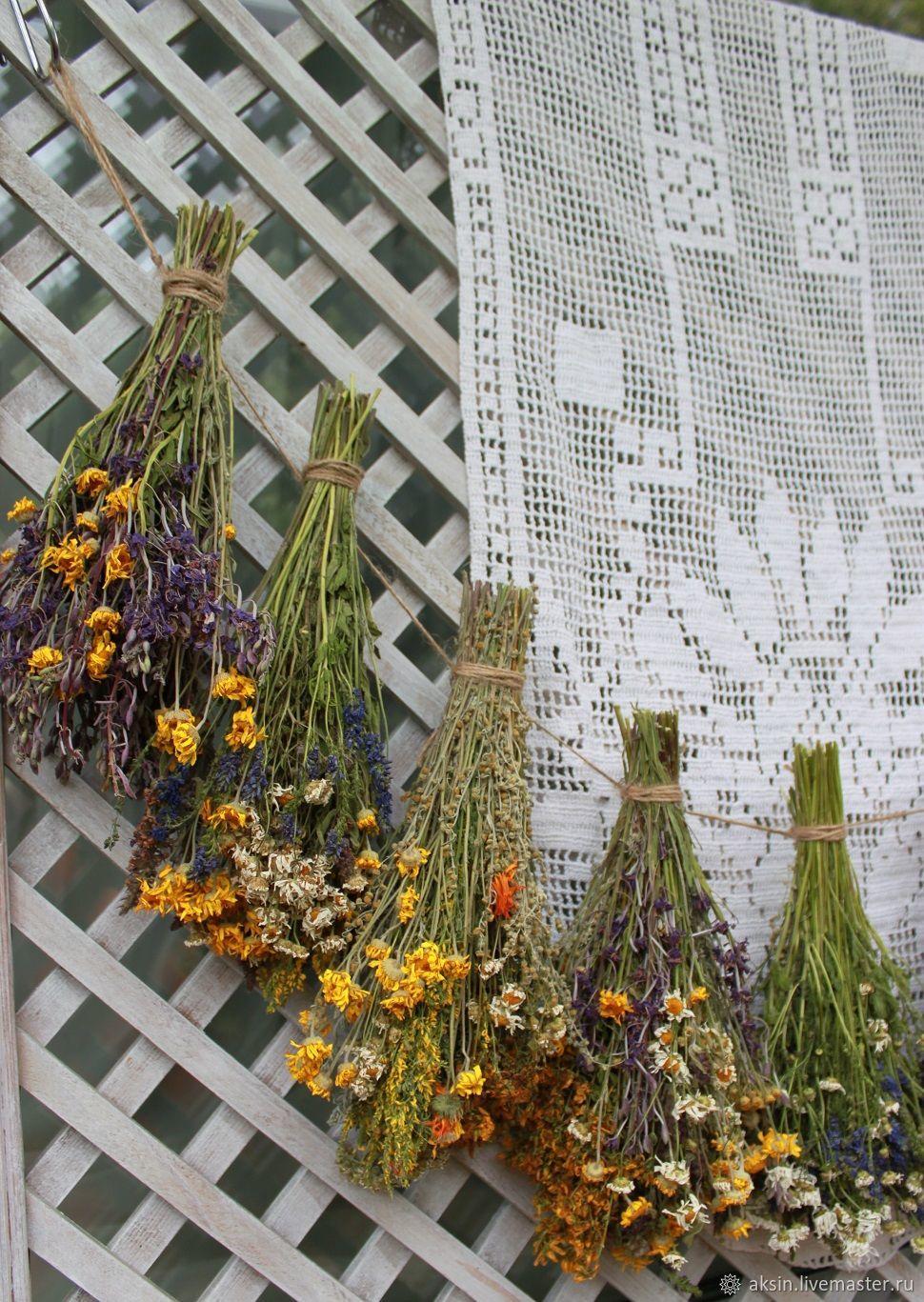 Большая подвеска из луговых трав в стиле кантри, Цветы, Котельники, Фото №1