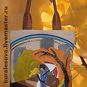 """Классическая сумка ручной работы. Ярмарка Мастеров - ручная работа Кожаная сумка """"Осень"""". Handmade."""