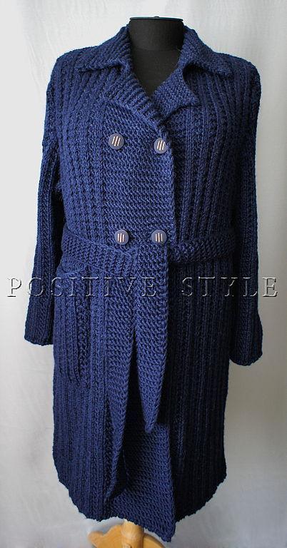 """Верхняя одежда ручной работы. Ярмарка Мастеров - ручная работа. Купить Пальто """"Классик"""". Handmade. Пальто, синий цвет"""