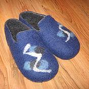 Обувь ручной работы. Ярмарка Мастеров - ручная работа Мужские тапки. Handmade.