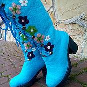 """Обувь ручной работы. Ярмарка Мастеров - ручная работа сапожки из шерсти """"Веночек"""". Handmade."""