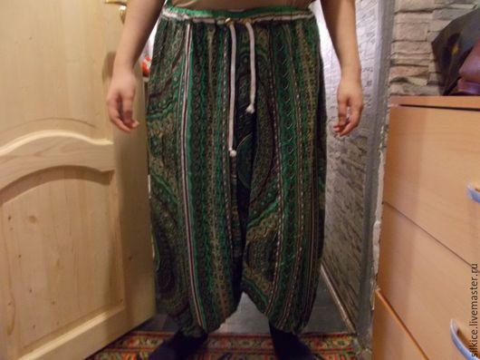 Этническая одежда ручной работы. Ярмарка Мастеров - ручная работа. Купить Зуавы (алладины, шаровары), распродажа. Handmade. Зуавы, удобно
