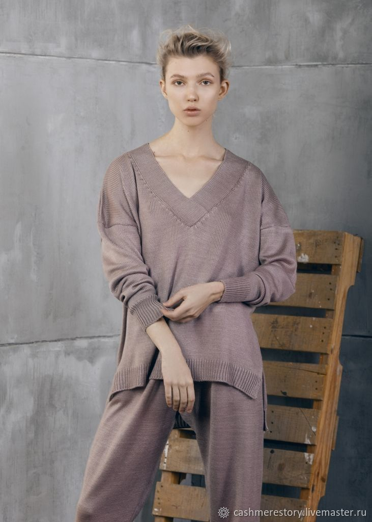 Women's knitted suit Cold Beige, Suits, Moscow,  Фото №1