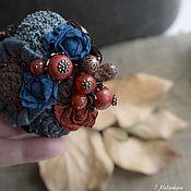 Украшения handmade. Livemaster - original item Brooch Saffron mist. Handmade.