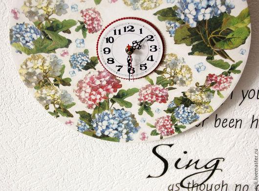 """Часы для дома ручной работы. Ярмарка Мастеров - ручная работа. Купить Часы настенные  """"Цветочный парад"""". Handmade. Комбинированный"""