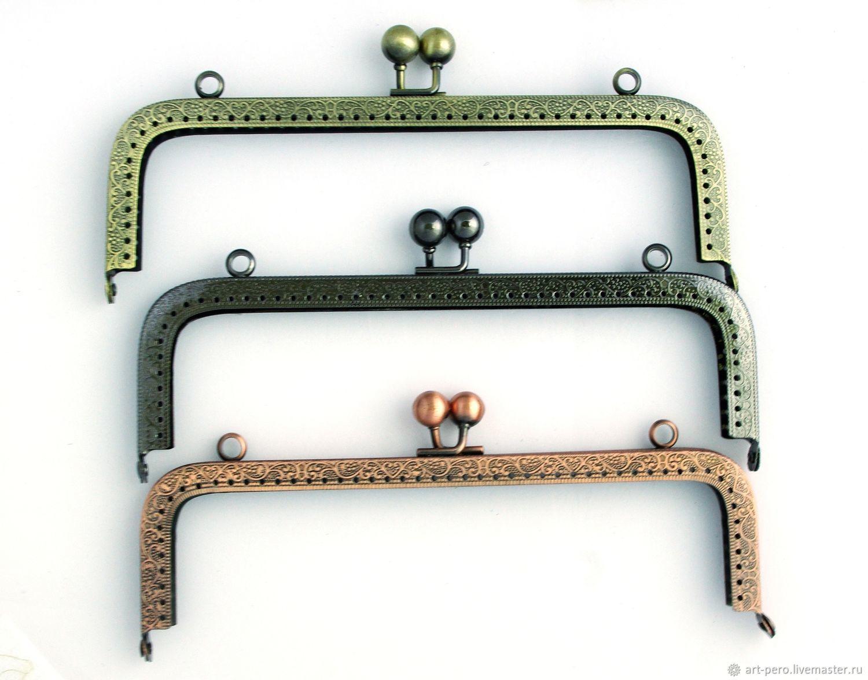 Фермуар (рамочный замок), пришивной (выбрать размер и цвет), Фурнитура для сумок, Санкт-Петербург,  Фото №1
