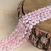 Материалы для творчества handmade. Livemaster - original item Copy of Copy of 6-10 mm Rose quartz, faceted beads. Handmade.