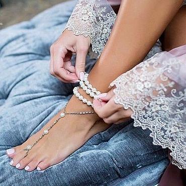Украшения ручной работы. Ярмарка Мастеров - ручная работа Слейв-браслеты на ножки. Handmade.