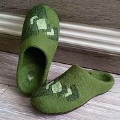 Обувь ручной работы handmade. Livemaster - original item Mens felted Slippers. Handmade.