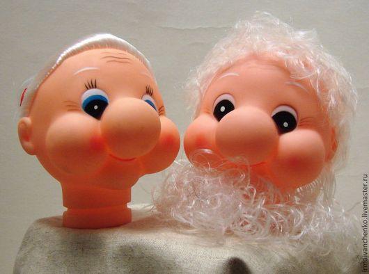 №1.Бабушка и дедушка. В наличии 4 головки для куклы бабушки и 4 головки для куклы дедушки. Цена - 250 руб за шт.