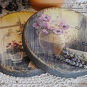 """Для дома и интерьера ручной работы. Ярмарка Мастеров - ручная работа сырные дощечки """"Утро в провансе"""". Handmade."""