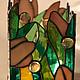 Подсвечник Весна выполнен в витражной технике Тиффани  из  цветного стекла. Помещаются четыре чайный свечи.