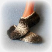 Аксессуары ручной работы. Ярмарка Мастеров - ручная работа СЛЕДОЧКИ собачий пух носки. Handmade.